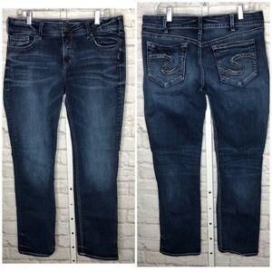Silver Elysse Straight Jeans W33/L32